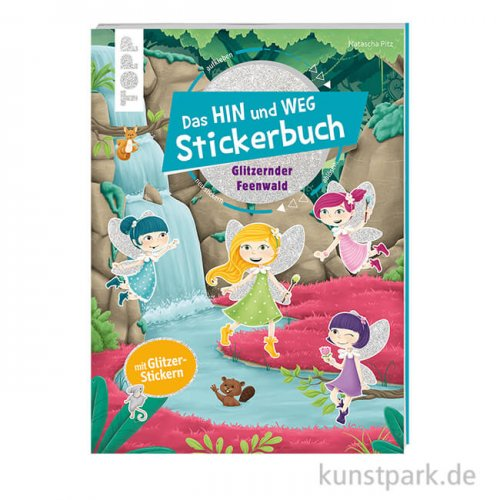 Das HIN und WEG Stickerbuch - Glitzernder Feenwald, Topp Verlag