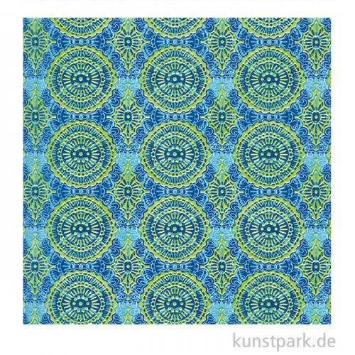 DECOPATCH Papier 388 Grün Blau, 3 Stück
