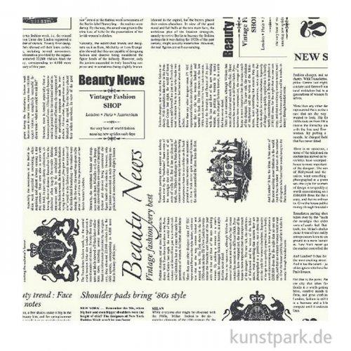 DECOPATCH Papier 770 Zeitung Schwarz-Weiß, 3 Stück