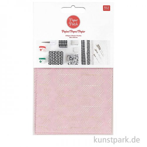Decoupage Papier - Christmas is in the Air - Rose-Gold, 3 Stück