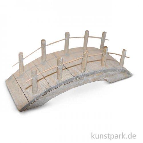 Deko-Holz- Brücke, flach, 10x4x4,5 cm, 1 Stück