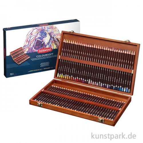 Derwent COLOURSOFT, 72 weiche Farbstifte im Holzkasten