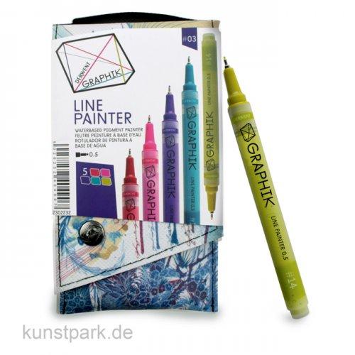 Derwent GRAPHIK LINE Painter 0,5 mm 5er Set - 03