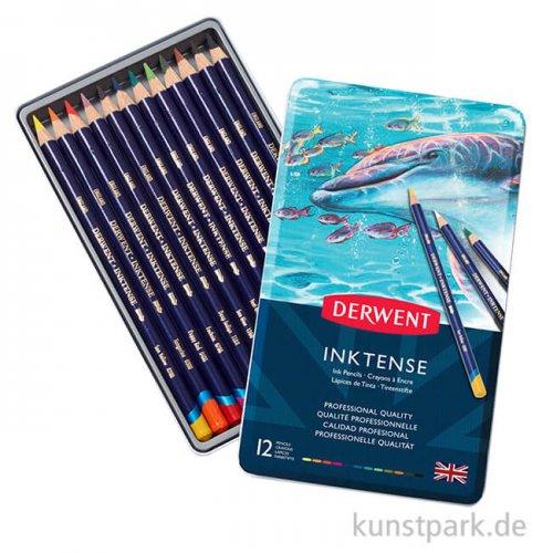 Derwent INKTENSE, 12 Tintenstifte im Metalletui