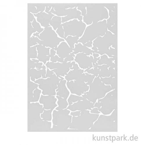 Design Schablone Rissige Erde DIN A4