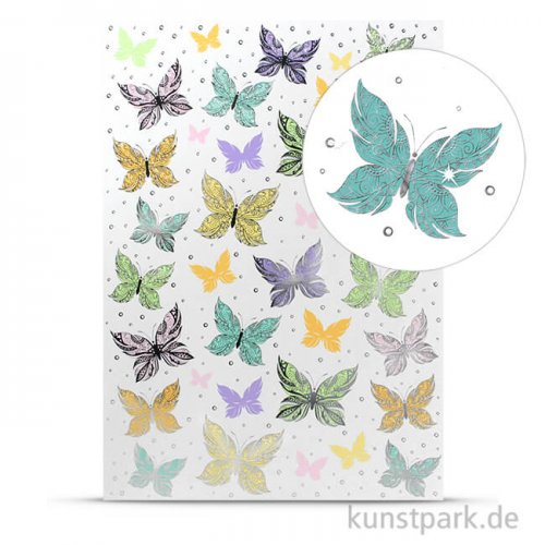 Designkarton Fancy - Schmetterling, DIN A4, 200g