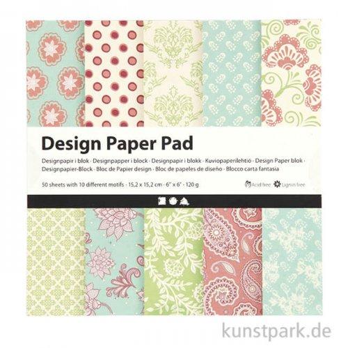 Designpapier-Block Flieder 50 Blätter mit 10 Motiven