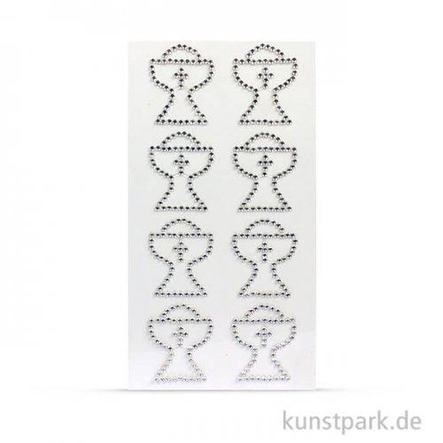 Designsticker aus Strasssteinen - Kelch, 8 Stück