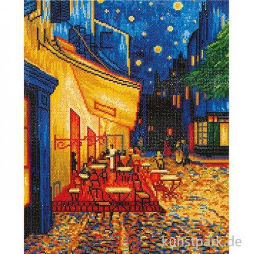 DIAMOND DOTZ Nachtcafé, Van Gogh, Größe etwa 52 x 41,9 cm