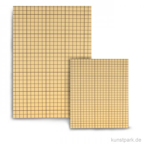 Doppelseitige Klebefolie, transparent mit Hilfslinien 10x14cm - 10 Blatt