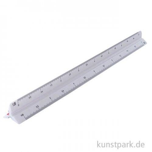 Dreikant-Maßstab Kunststoff Länge 30 cm
