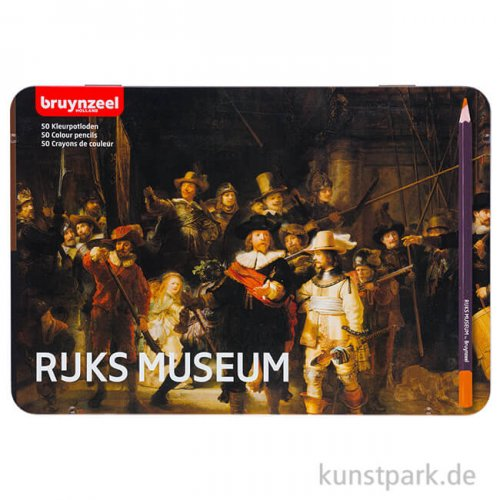 Dutch Masters Box - Die Nachtwache, 50 Buntstifte Metall Etui