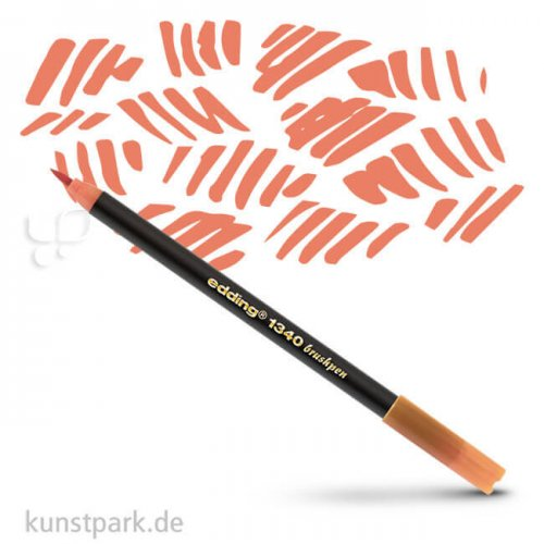 edding 1340 Brushpen einzeln | Aprikose nude