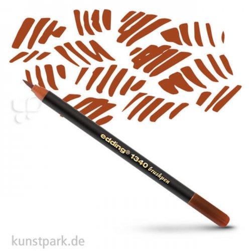 edding 1340 Brushpen einzeln | Braun