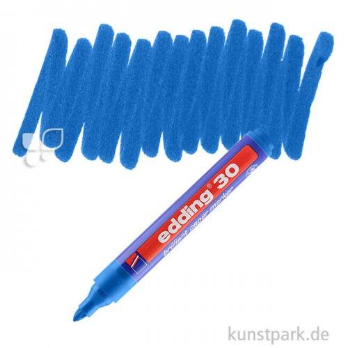 edding 30 Brilliant Paper Marker Einzelfarbe   003 Blau