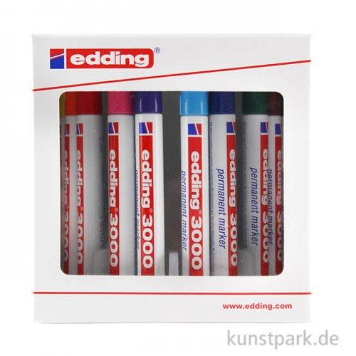edding 3000 Permanent-Marker Set, Box mit 10 Farben