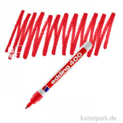 edding 400 Permanent Marker Einzelfarbe   002 Rot
