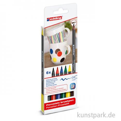 edding 4200 Porcelain Brushpen 6er Set - Family Colours