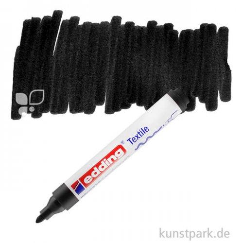 edding 4500 Textil Marker Einzelfarbe | 001 Schwarz