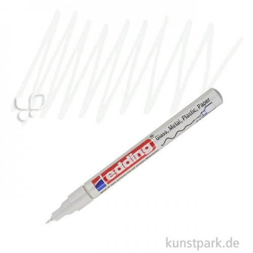 edding 780 Lack Paint Marker Einzelfarbe   049 Weiß