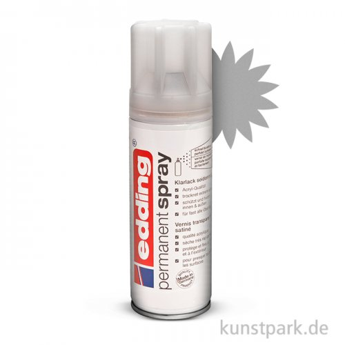 edding Permanent Spray - Klarlack Seidenmatt, 200 ml