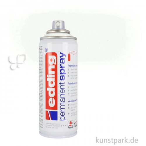 edding Permanent Spray - seidenmatt, 200 ml Einzelfarbe   922 Verkehrsweiß