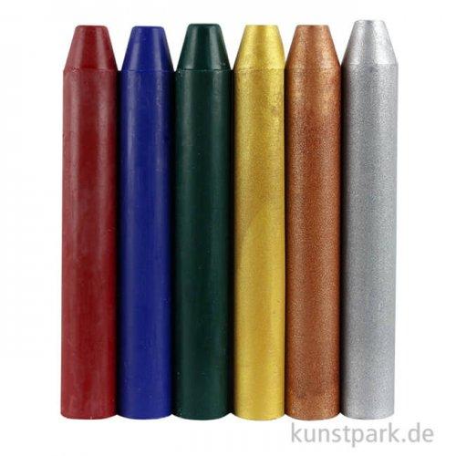 Encaustic Farben-Set - Metallisch - mit 6 Farben