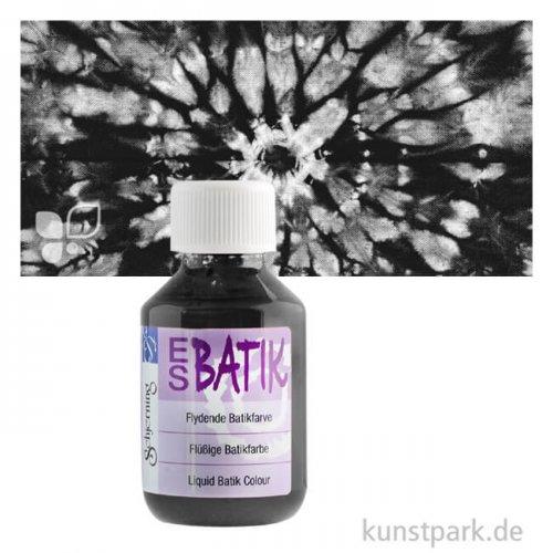 ES Batikfarbe zum Färben und Batiken, 100 ml Einzelfarbe | Schwarz