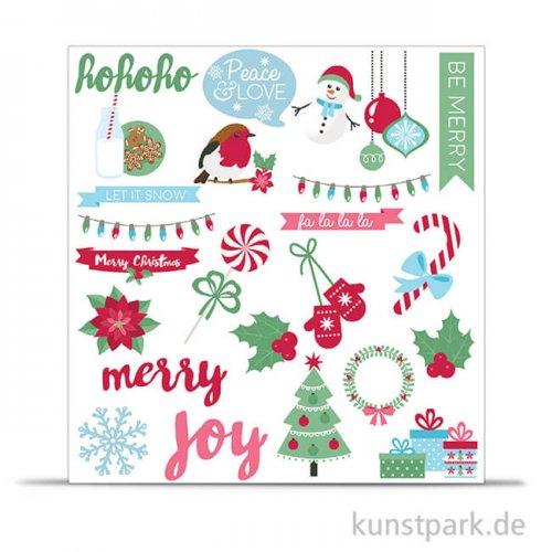 Etiketten Weihnachten, 250 g, 55-110 mm, 48 Stück sortiert