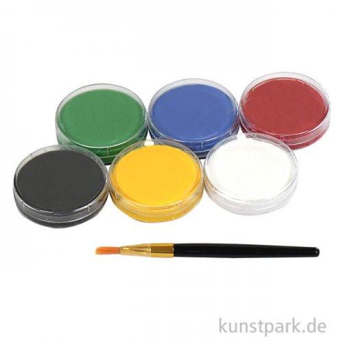 Eulenspiegel Junior-Schmink-Palette mit 6 Farben