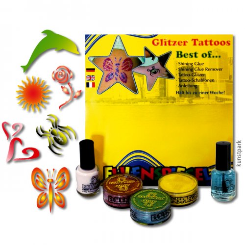 Eulenspiegel Tattoo-Glitzer-Set Best of (XL)