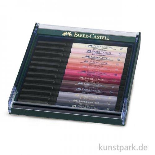 Faber-Castell PITT Artist Pen Brush - 12 Tuschestifte, Haut