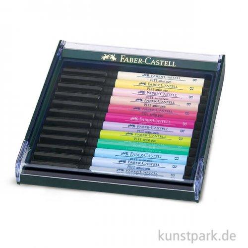 Faber-Castell PITT Artist Pen Brush - 12 Tuschestifte, Pastell