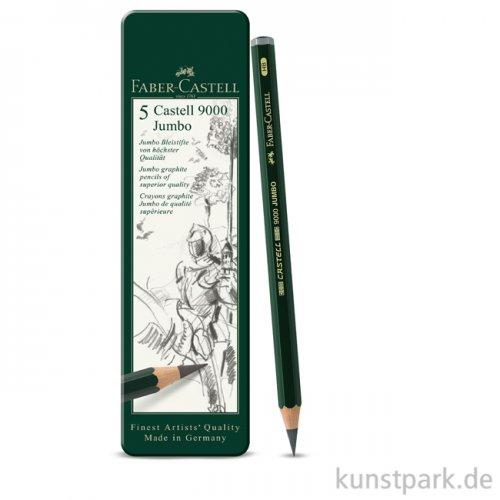 Faber-Castell 9000 Jumbo, 5 Bleistifte im Metalletui