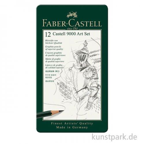 Faber-Castell 9000 Art, 12 Bleistifte im Metalletui