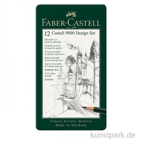 Faber-Castell 9000 Design, 12 Bleistifte im Metalletui