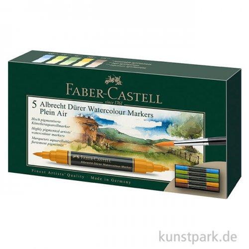 Faber-Castell ALBRECHT DÜRER,5 Aquarellmarker als Plein Air-Set
