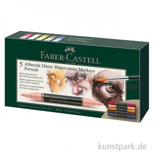 Faber-Castell ALBRECHT DÜRER,5 Aquarellmarker als Portrait-Set