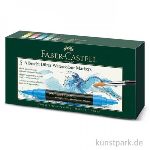 Faber-Castell ALBRECHT DÜRER, 5 Aquarellmarker im Etui