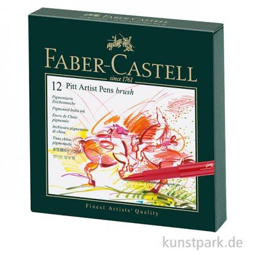 Faber-Castell PITT Artist Pen Brush - 12er Atelierbox