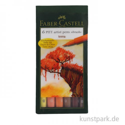 Faber-Castell pen BRUSH - 6er-Set TERRA