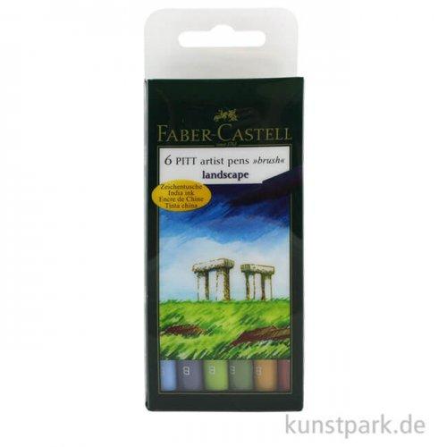 Faber-Castell PITT Artist Pen Brush - 6er-Set LANDSCAPE