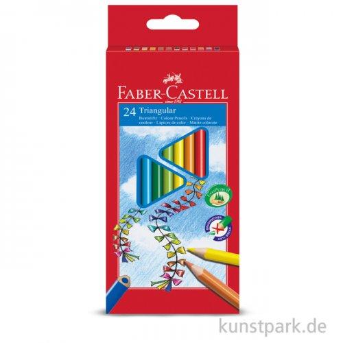 Faber-Castell Buntstift TRIANGULAR - 24er Kartonetui