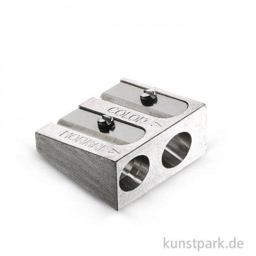 Faber-Castell Doppelspitzer aus Metall für Farb-und Kreidestifte