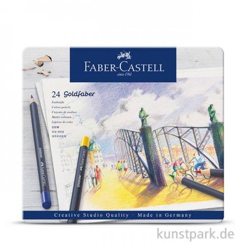 Faber-Castell GOLDFABER, 24 Farbstifte im Metalletui