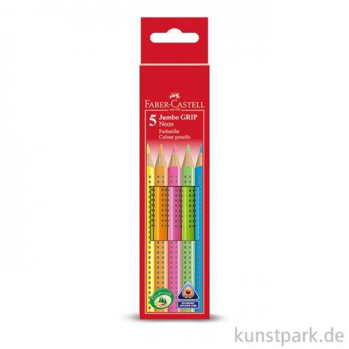 Faber-Castell JUMBO Grip 5er Etui - Neon