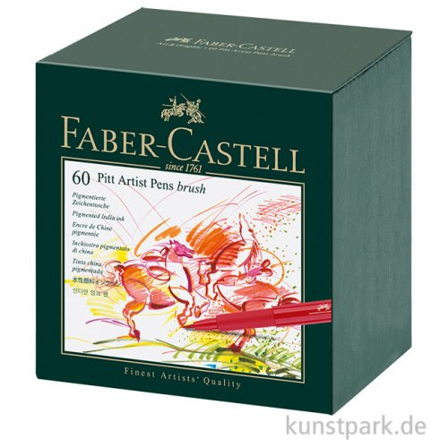 Faber-Castell PITT Artist Pen Brush - 60er Atelierbox