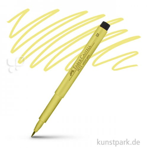 Faber-Castell PITT Artist Pen Brush einzeln Stift | 104 Lichtgelb