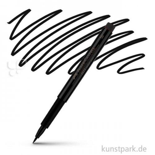 Faber-Castell PITT Artist Pen Brush einzeln Stift   199 Schwarz