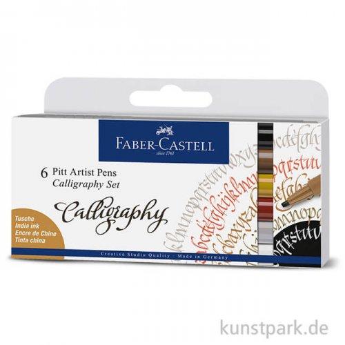 Faber-Castell PITT Artist Pen Calligraphy - 6er Set